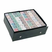 Color Dots Professional Vinyl Case Double 18 Dominoes