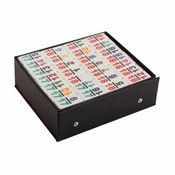 Double 18 Numeral White Prof Dominoes In Vinyl Case Only