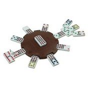 Crowing Chicken Domino Center Piece W/2 Chicken Markers