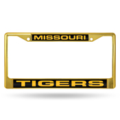 Missouri Tigers Golden / Black Laser Chrome Frame