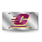 Central Michigan Chippewas Grey / Maroon Laser Tag