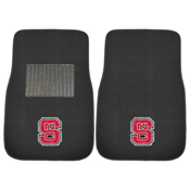 NC State 2-PC Embroidered Car Mats 18x27