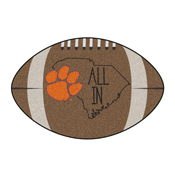 Clemson Southern Style Football Rug 20.5x32.5