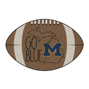 Michigan Southern Style Football Rug 20.5x32.5