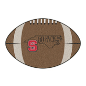 NC State Southern Style Football Rug 20.5x32.5
