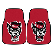 NC State 2-pc Carpeted Car Mats 17x27
