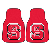 NC State 2-piece Carpeted Car Mats 17x27