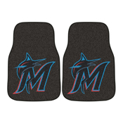 MLB - Miami Marlins 2-piece Carpeted Car Mats 17x27