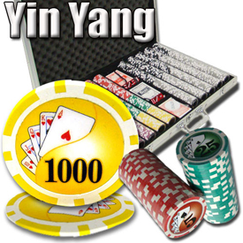 Yin Yang Poker Chip Set 13.5 G - Aluminum Case 1000 Ct Poker Chips Sets Poker