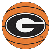 Georgia Basketball Mat 27 diameter