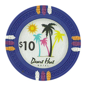 Desert Heat Series 13.5 Gram Clay Composite Casino Poker Chips - $10 Sold By the Roll of 25pcs.