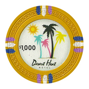 Desert Heat Series 13.5 Gram Clay Composite Casino Poker Chips - $1000 Sold By the Roll of 25pcs.