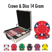 500 Ct Crown & Dice 14 Gram - Claysmith