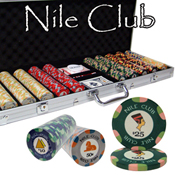 500 Ct Standard Breakout Nile Club Chip Set - Aluminum Case