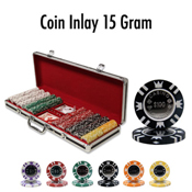 Coin Inlay 15 Gram Poker Chip Set 500 Poker Chip Case