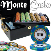 Pre-Pack - 500 Ct Monte Carlo Chip Set Black Mahogany Case