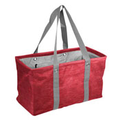 Plain Red Crosshatch Picnic Caddy