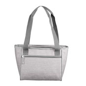 Plain Gray Crosshatch 16 Can Cooler Tote