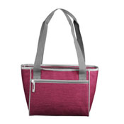 Plain Maroon Crosshatch 16 Can Cooler Tote