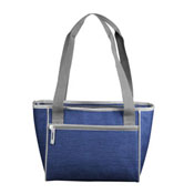Plain Navy Crosshatch 16 Can Cooler Tote
