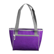 Plain Purple Crosshatch 16 Can Cooler Tote