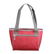 Plain Red Crosshatch 16 Can Cooler Tote