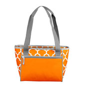 Plain Tangerine 16 Can Cooler Tote