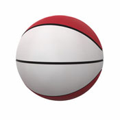 Plain Red Full-Size Autograph Basketball