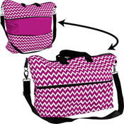 Chevron Pink Expandable Tote