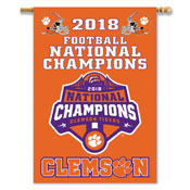 Clemson Tigers 2018 FOOTBALL CHAMP 2-SIDED 28 X 40 BANNER