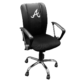 Curve Task Chair with Secondary Logo Panel - Atlanta Braves MLB
