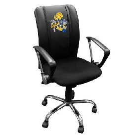 Golden State Warriors NBA Curve Task Chair with Logo Panel | 2018 Champions