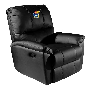 Rocker Recliner with Kansas Jayhawks Logo Panel