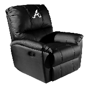MLB Rocker Recliner with Secondary Logo Panel - Atlanta Braves