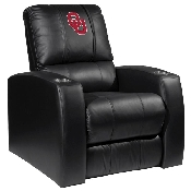 Collegiate Relax Recliner with Red Logo with White Outline - Oklahoma University Sooners