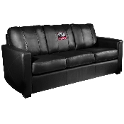 Collegiate Silver Sofa with Elephant logo - Alabama Crimson Tide