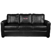 MLB Silver Sofa with 2018 Champs Logo Panel - Boston Red Sox