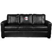 MLB Silver Sofa with Primary Logo - Philadelphia Phillies