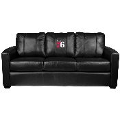 NBA Silver Sofa with Primary Logo Panel - Philadelphia 76ers
