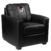 Pinstripe Bulldog Head  Silver Chair - University of Georgia