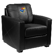 Silver Club Chair with Kansas Jayhawks Logo Panel