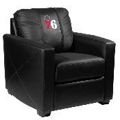 NBA Silver Chair with Primary Logo Panel - Philadelphia 76ers