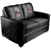 Collegiate Silver Love Seat with Elephant logo - Alabama Crimson Tide