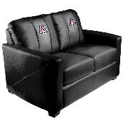 Collegiate Silver Love Seat - Arizona Wildcats