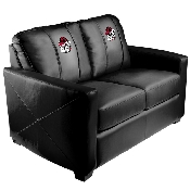 Pinstripe Bulldog Head Logo Silver Love Seat - University of Georgia