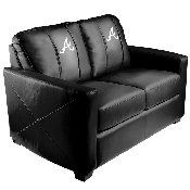 MLB Silver Love Seat with Secondary Logo - Atlanta Braves