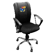 Kansas Jayhawks Curve Task Chair with Logo Panel