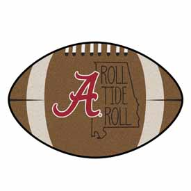 Alabama Southern Style Football Rug 20.5x32.5