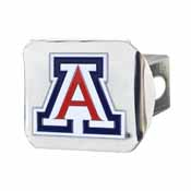 University of Arizona Color Hitch Chrome 3.4x4