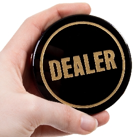 Crystal Dealer Button